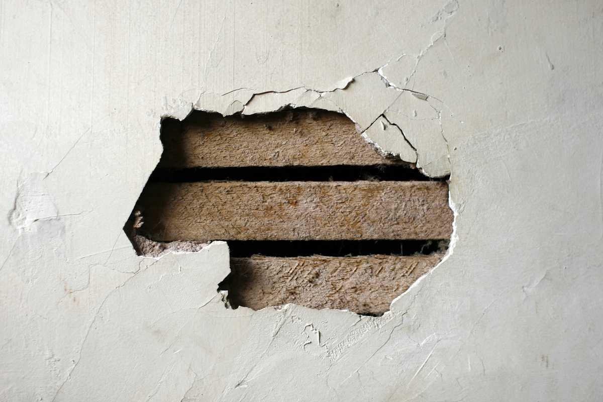 Mur de maison à rénover
