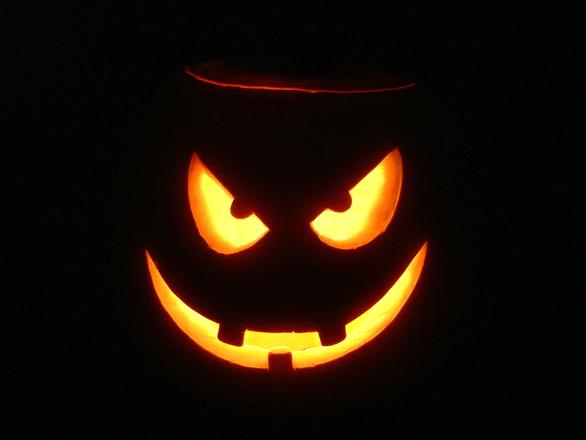 Citrouille illuminée d'halloween