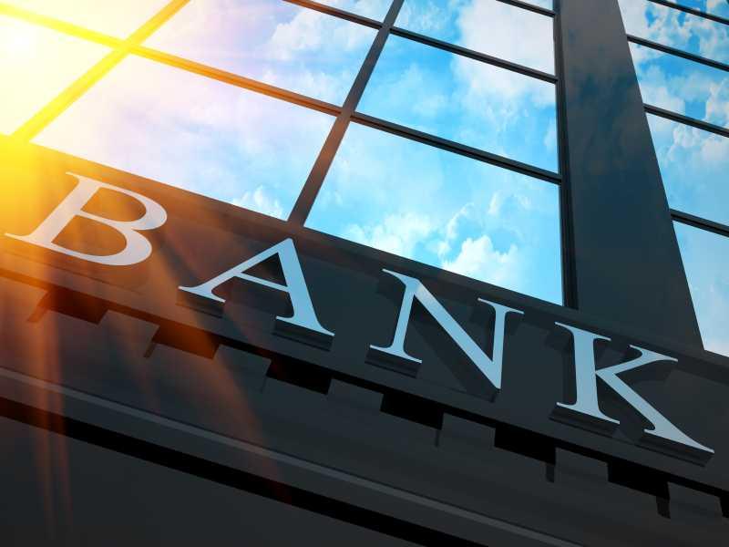 Facade d'un immeuble de banque