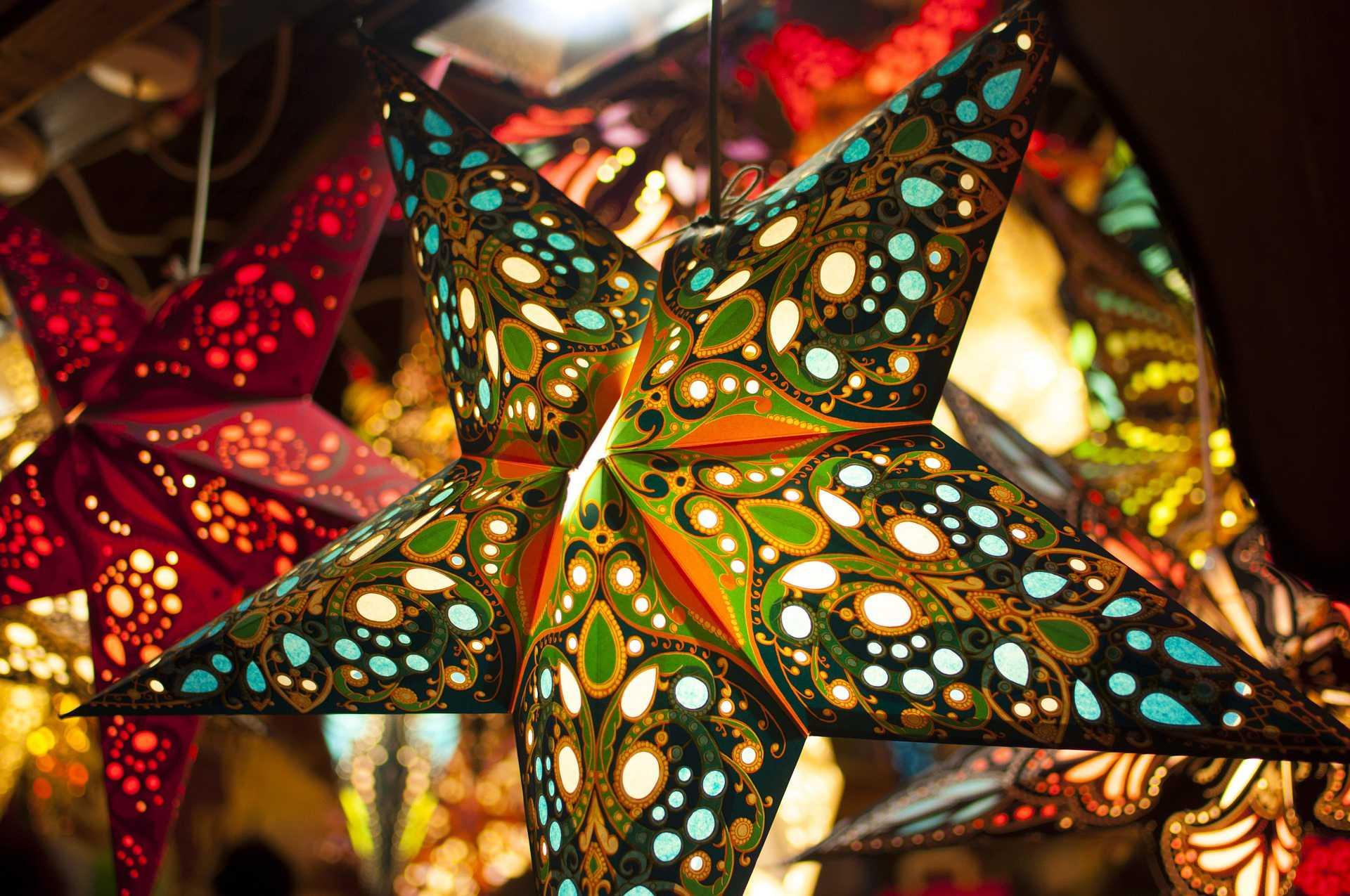 Etoile de Noel lumineuse tendances déco Noël 2016