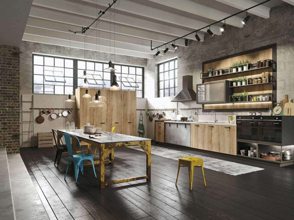 déco en bois brut et le métal pour un style loft industriel