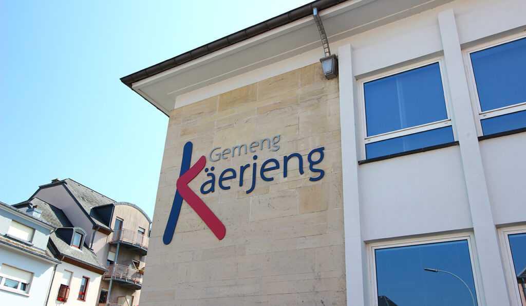 Façade de la mairie de Kaerjeng