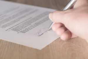 La signature du compromis de vente